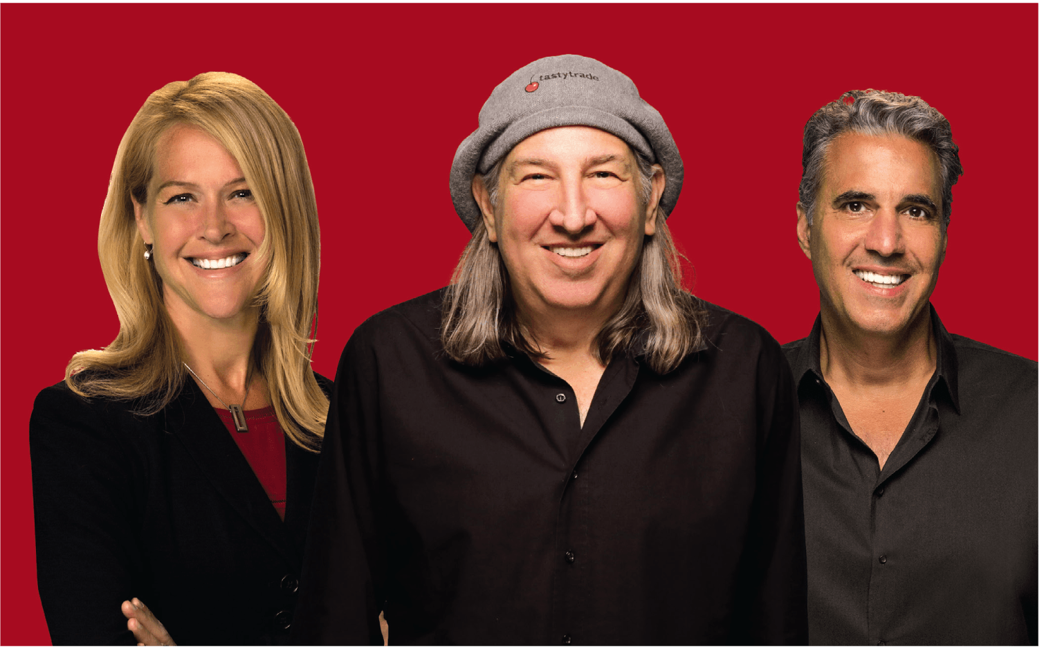 Tastytrade team from left, Krisit Ross, Tom Sosnoff, and Tony Battista